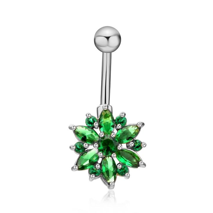 Belly Button Rings CZ Crystal Surgical Steel Body Jewelry Belly Piercing Rings Sexy Fake Navel Piercing Ombligo Pircing