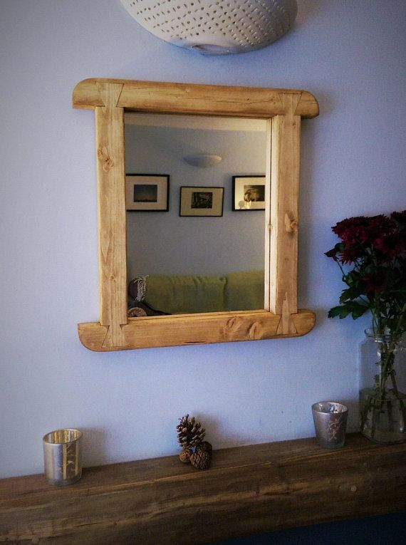 Wall Mirror Curved Wooden Frame Natural Eco Wood Mirror Frame 50 5hx48 5w Cm Modern Rustic Farmhouse Style Custom Handmade In Somerset Uk Mirror Wall Bedroom Mirror Design Wall Wall Mirrors With Storage