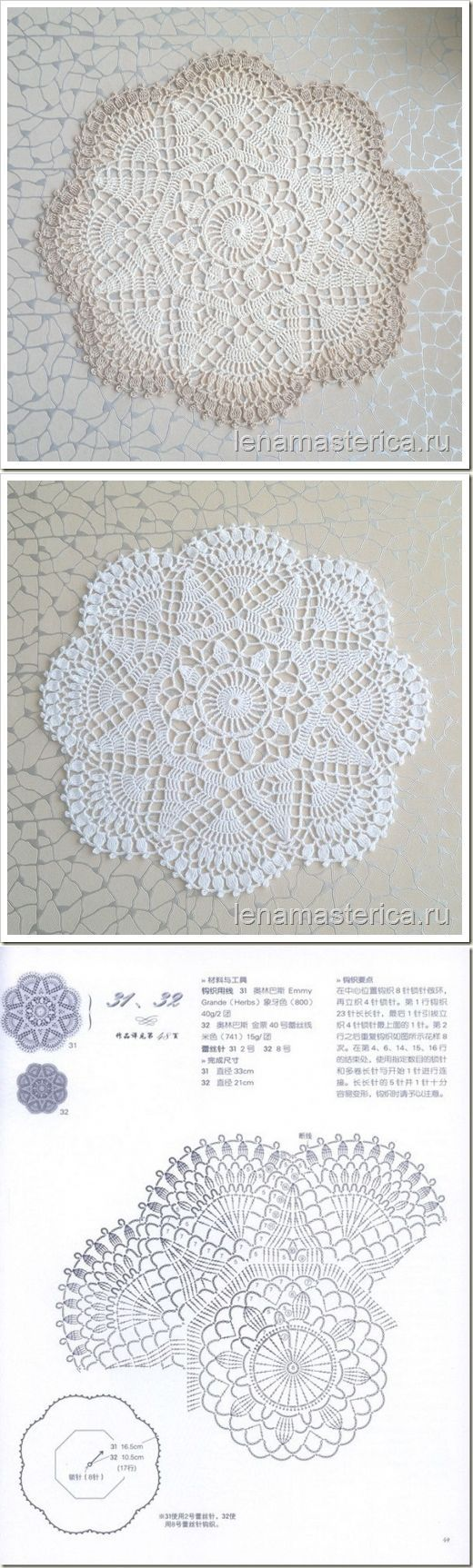 22 best Doilies images on Pinterest | Doilies crochet, Doilies and ...