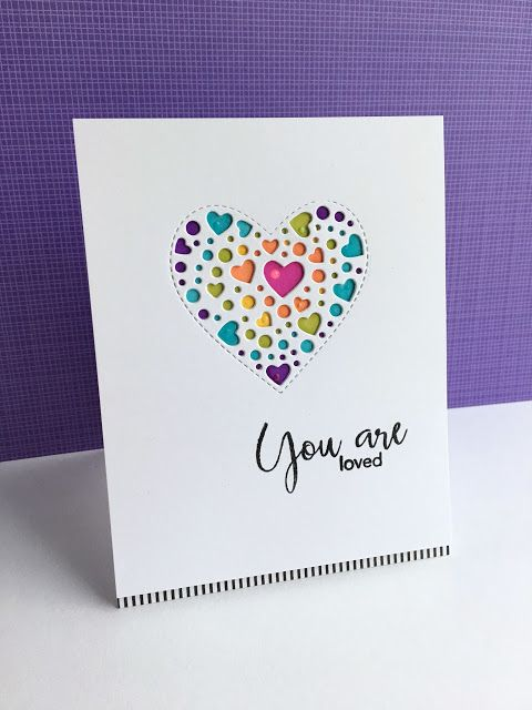 I'm in Haven: Sprinkle Heart Cards