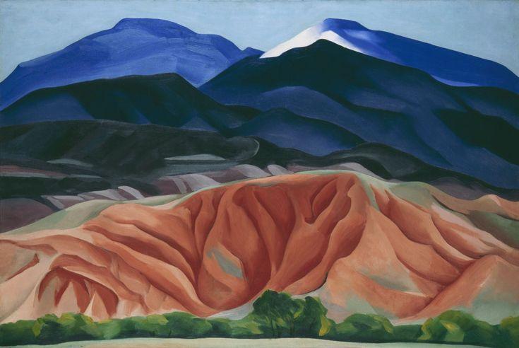 "Lindsay Essay   Georgia O'Keeffe's New Mexico   Georgia O'Keeffe, ""Black Mesa Landscape, New Mexico / Out Back of Marie's II,"" 1930. © Georgia O'Keeffe Museum/DACS, London."