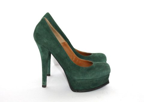 Fendi Decollete Camoscio Verde Bosco Green Pump – Joyce's Closet