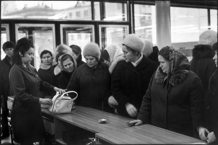 RUSSIA. Moscow. 1972. Arbat street. Department store. by Henri Cartier-Bresson