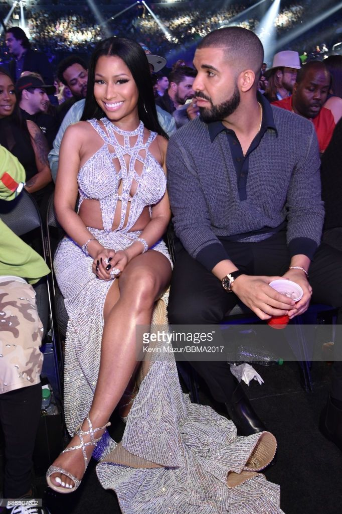 Recording artists Nicki Minaj (L) and Drake attend the 2017 Billboard Music Awards at T-Mobile Arena on May 21, 2017 in Las Vegas, Nevada.
