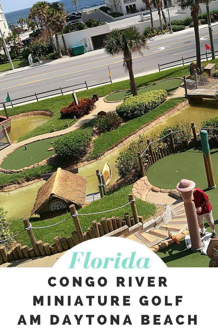 Ein Abenteuer für die ganze Familie. Das Congo River Miniature Golf am Daytona Beach in Florida glänzt mit Minigolfbahnen in Safari Look. Dazu kommt eine Schatzjagd nur für Kinder!