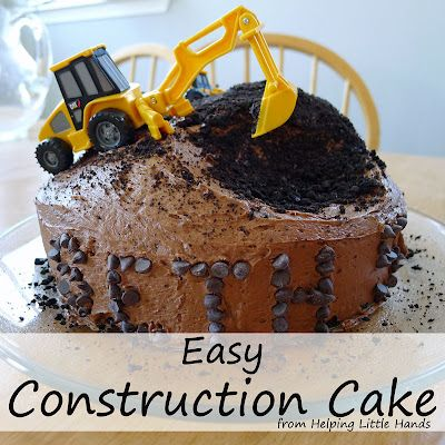 Helping Little Hands: Easy Construction Cake  Finally a decorated cake even I can accomplish!