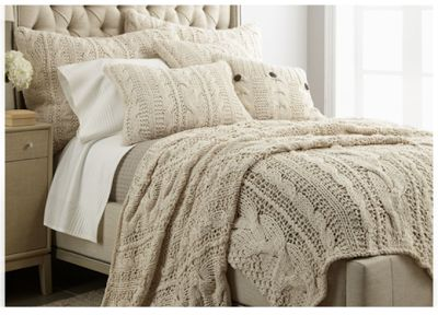 If you want a neutral, calm but still beautiful bedroom, use texture. Lots of it. Sumptuous, warm layers will always be cozy, without being cluttered.