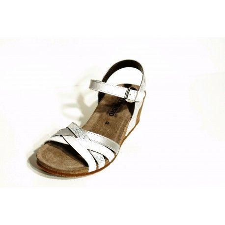 Mephisto sandale compense  Mado blanc/ livraison offert cardel-chaussures.com