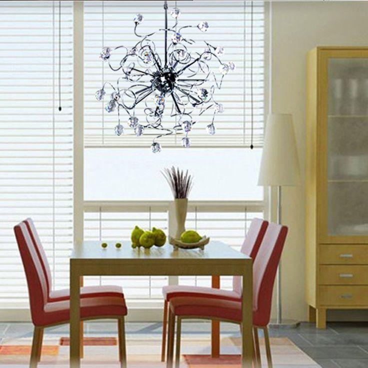 MAMEI ™ 15 Света LED Современные хрустальные люстры освещение для гостиной, столовой, спальни. - - Amazon.com