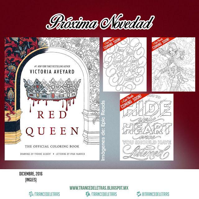 """Revelados los próximos libros para colorear basados en novelas literarias, se tratan de """"La Reina Roja"""" de Victoria Aveyard y """"La Selección"""" de Kiera Cass, el primero sale (inglés) el 20 de Diciembre y el segundo el 27 del mismo mes."""