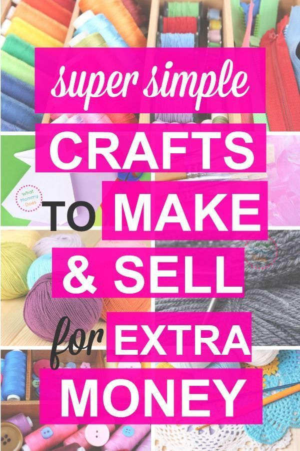 50+ Crafts You Can Make and Sell {Updated for 2019!} – Diy money making crafts