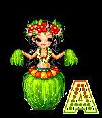 Alfabeto animado de hawaiana bailando.