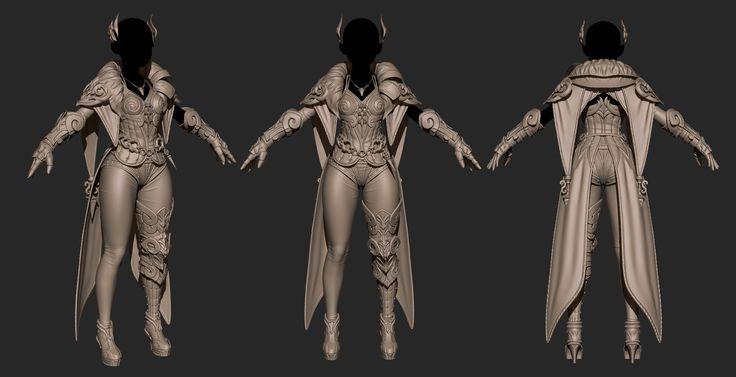 ArtStation - ASKER -flare armor, redgury .