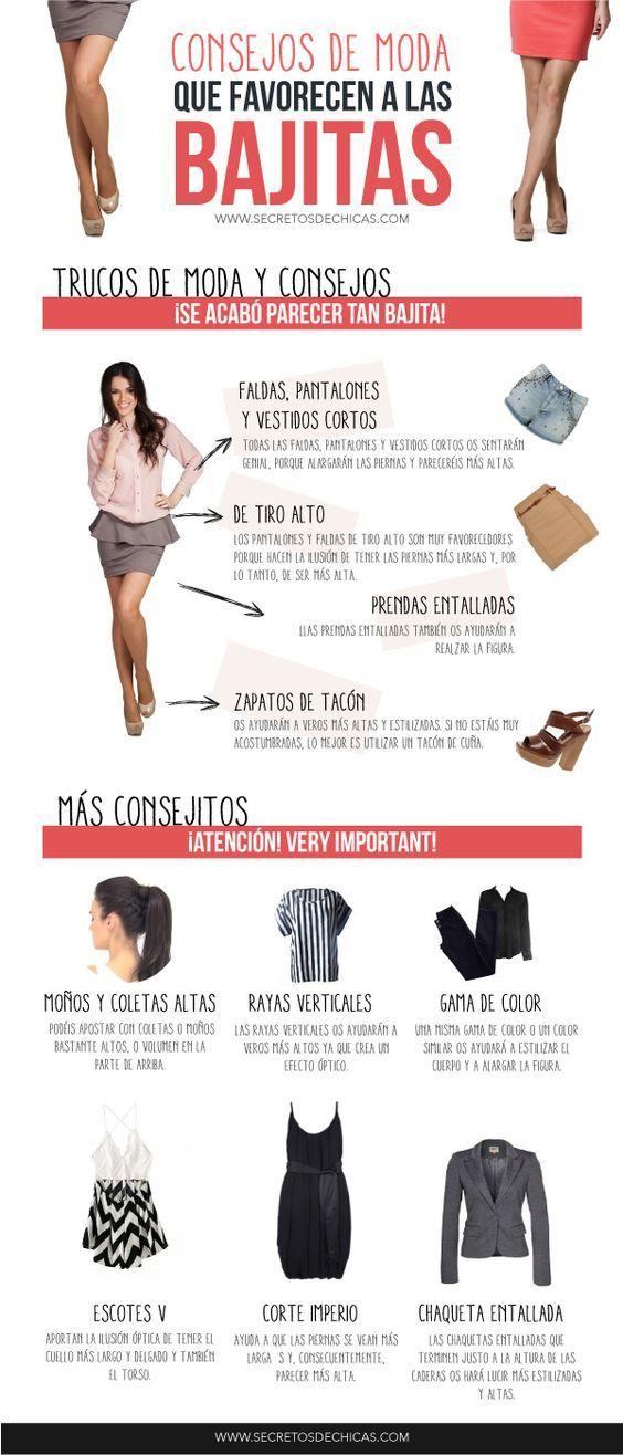 Consejos de moda para personas de estatura bajita. #ConsejosModa
