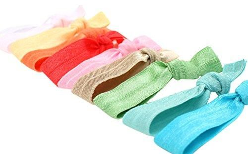 Pure Acoustics 50pack No Tug Colorful Hair Elastic Ties
