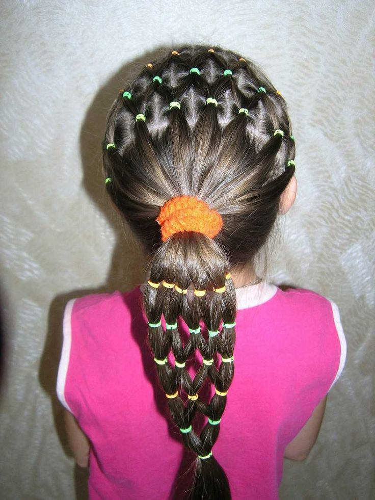 Hairstyle with rubber bands for kids :: one1lady.com :: #hair #hairs #hairstyle #hairstyles
