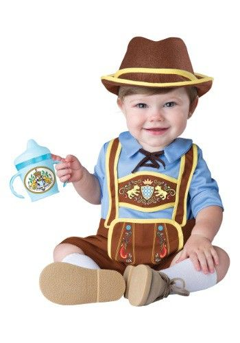This Infant/Toddler Little Lederhosen Costume is perfect for you wee one to wear to his first Oktoberfest.