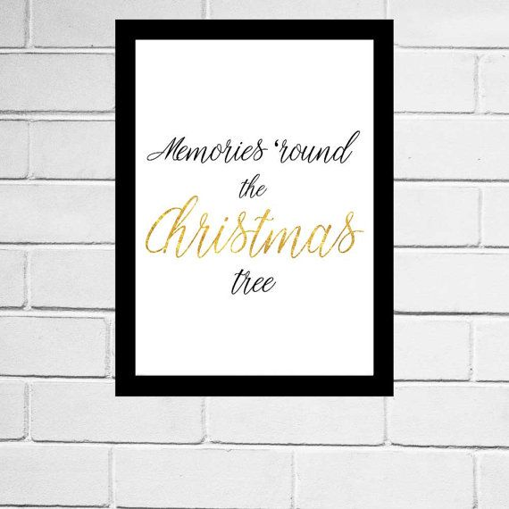 Christmas Print Memories Round The Christmas by watchthebirds