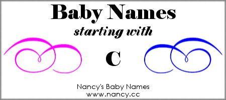 Long list of names (both boy names and girl names) that start with C. The names link to popularity graphs. #babynames