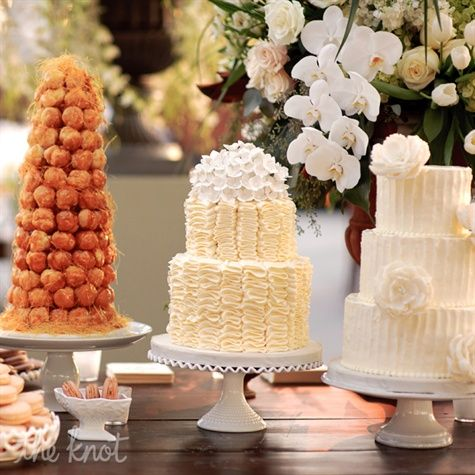 Tiered Ivory Cakes