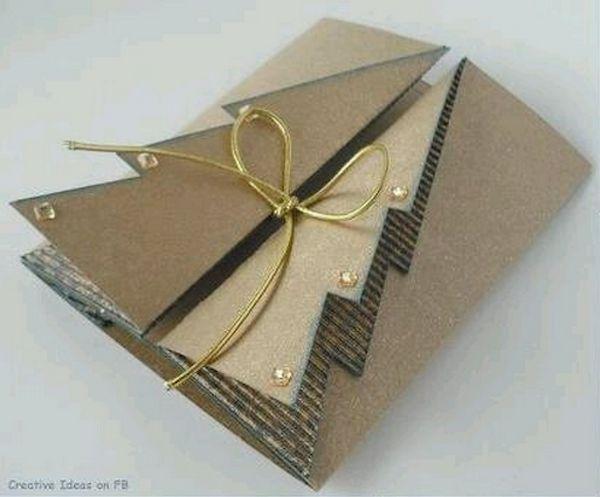 Roundup: 9 Folded Paper Christmas Tree Christmas Card Tutorials » Curbly | DIY Design Community
