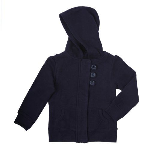 French Toast Girls Hooded Sweatshirt w/ Button & Zipper Front (Navy Size 2t)  //Price: $ & FREE Shipping //     #sports #sport #active #fit #football #soccer #basketball #ball #gametime   #fun #game #games #crowd #fans #play #playing #player #field #green #grass #score   #goal #action #kick #throw #pass #win #winning