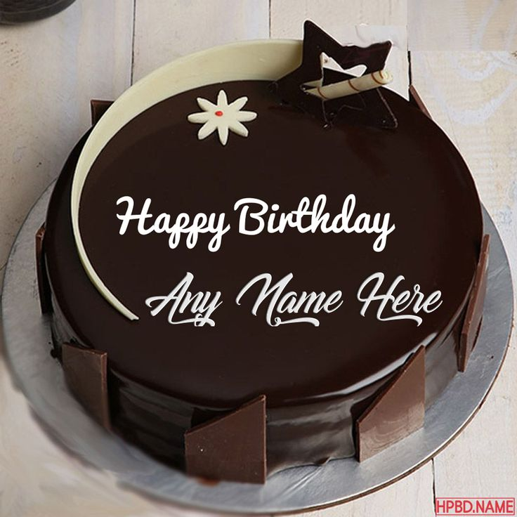 Dark chocolate birthday cake by name editing chocolate