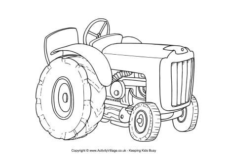 coloring pages farmall tractors-#17
