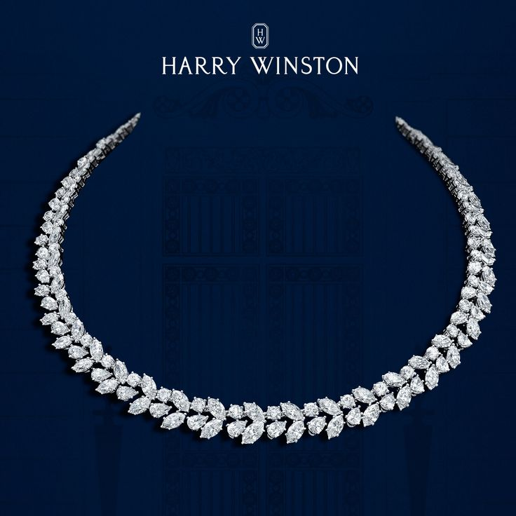 Winston Cluster Wreath Necklace Inspired by the beauty of a holly wreath, glistening with snow, Mr. Winston recognized the potential of grouping fancy cuts of diamonds to create sculptural, three-dimensional designs. The iconic Diamond Winston Cluster Wreath Necklace pays tribute to Mr. Winston's creative inspiration, with 41 pear-shaped, 80 marquise-shaped and 39 round brilliant diamonds weighing a total of 46.02 carats, handset in platinum.