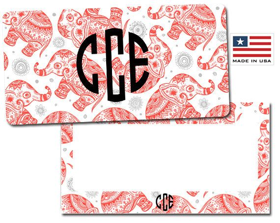 Elephant License Plate, Elephant License Plate Frame, Personalized License Plate, Custom License Plate, Custom License Frame by AModernStyle on Etsy