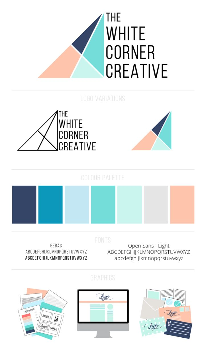 Every good brand design should have a brand board - here's an easy to use photoshop template to help you create a gorgeous design you're proud of!