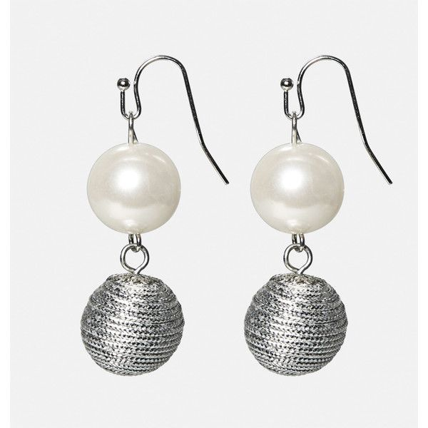 Avenue Pearl Metal Drop Earrings ($10) ❤ liked on Polyvore featuring jewelry, earrings, plus size, silver, fake earrings, imitation jewellery, white pearl earrings, imitation jewelry and fake pearl earrings