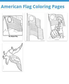 """Great collection of """"American Flag Coloring Pages"""" materials selected by """"Raisingourkids"""" Your students will love these American Flag Coloring Pages materials. - #teachersherpa #coloringsheets"""