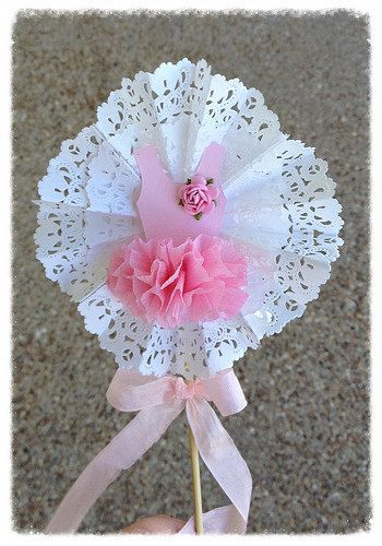 Birthday Decoration Shabby Chic Decorative Wand Ballet by JeanKnee