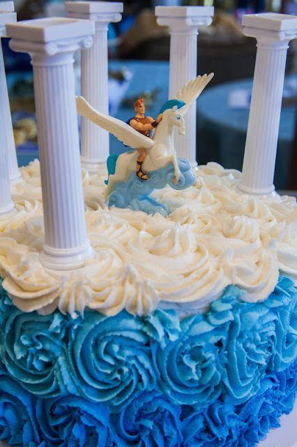 Pegasus Cake!  My Musings: Party on Mount Olympus