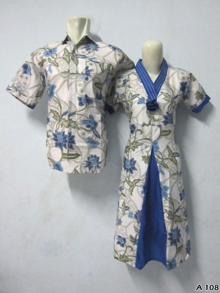 Batik Dress Couple A108 | IDR 135.000 | bahan : Katun | Size M, L, XL | Order : 081333303545