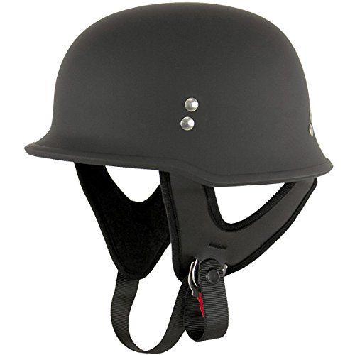 #Outlaw T-75 #German Style Flat Black Half #Helmet - Large  For full review visit http://best10best.com/best-motorcycle-helmet/