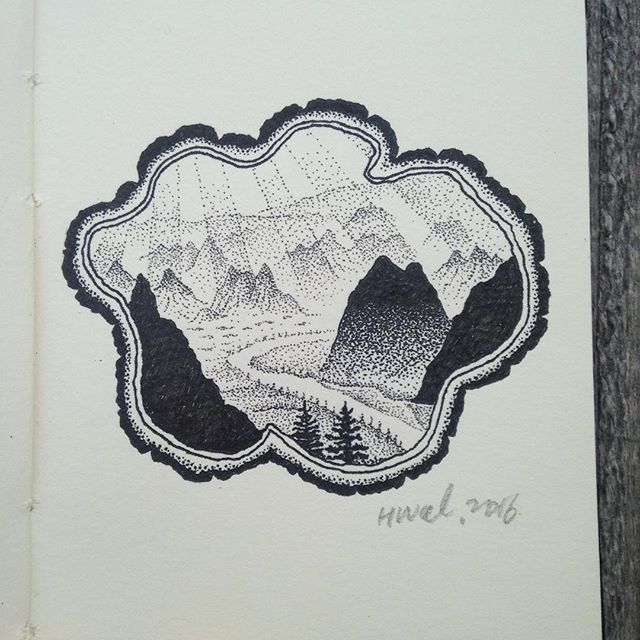 #illustration #art #drawing #diary #travel #mountains #camping #nature #wildlife