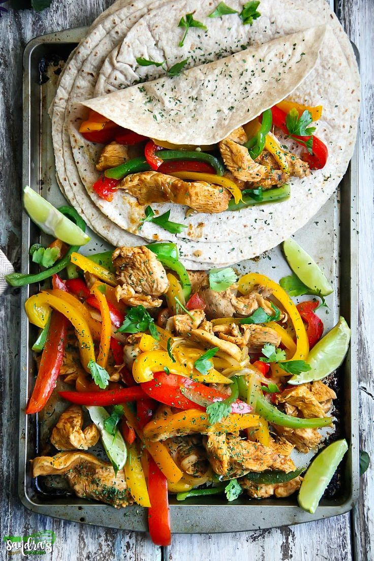 Simple and easy meal - Chicken Fajitas. The Recipe is flavorful, delicious and super simple.