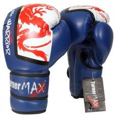 TURNERMAX BOXING GLOVES UK MEXICAN SPARRING 10 OZ, 12 OZ, 14, 16 OZ TRAINING MUAY THAI MMA WORKOUT BLUE