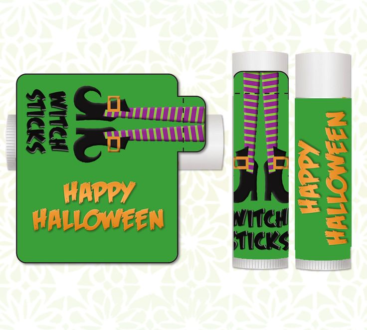 Lip Balm Labels - Halloween Lip Balms, Halloween Favors, Classroom Treats, Halloween Party Favors, Candy Alternative, Halloween Witches by LittlePrintsOttawa on Etsy