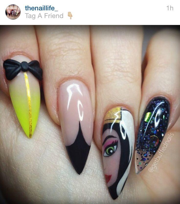 Evil queen nail art