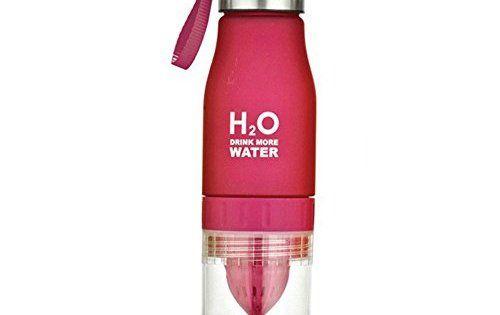 H2O 650ml Bouteille d'eau portable Santé Infuseur à fruits Citron jus presse Tasse–Créer votre propre parfumés aux fruits naturellement…