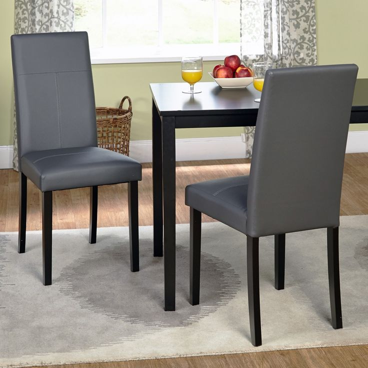 17 Best images about Dining Room – Gray Leather Dining Room Chairs