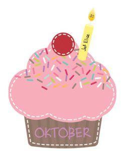 Verjaardagskalender cupcakes - De juffrouw zegt
