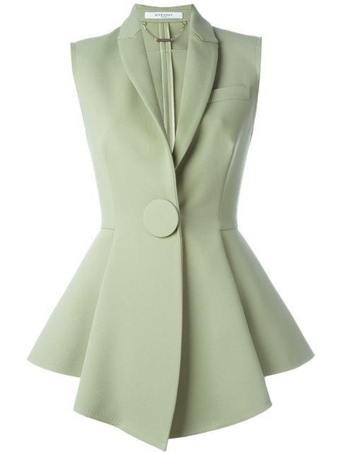 Givenchy flared waistcoat
