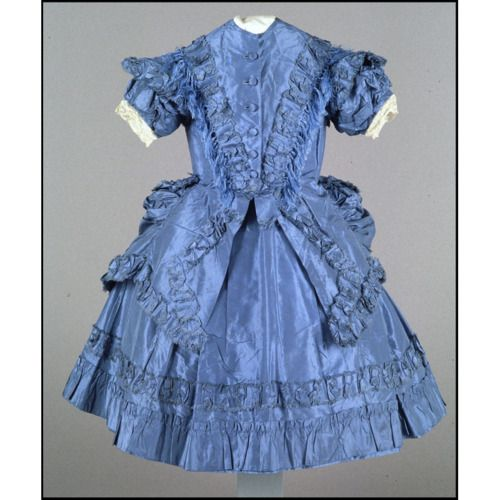 Child's dress, circa 1870, USA or UK, Colonial Williamsburg