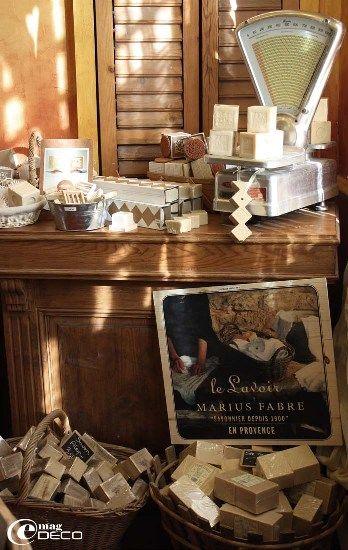 La boutique de la savonnerie Marius Fabre