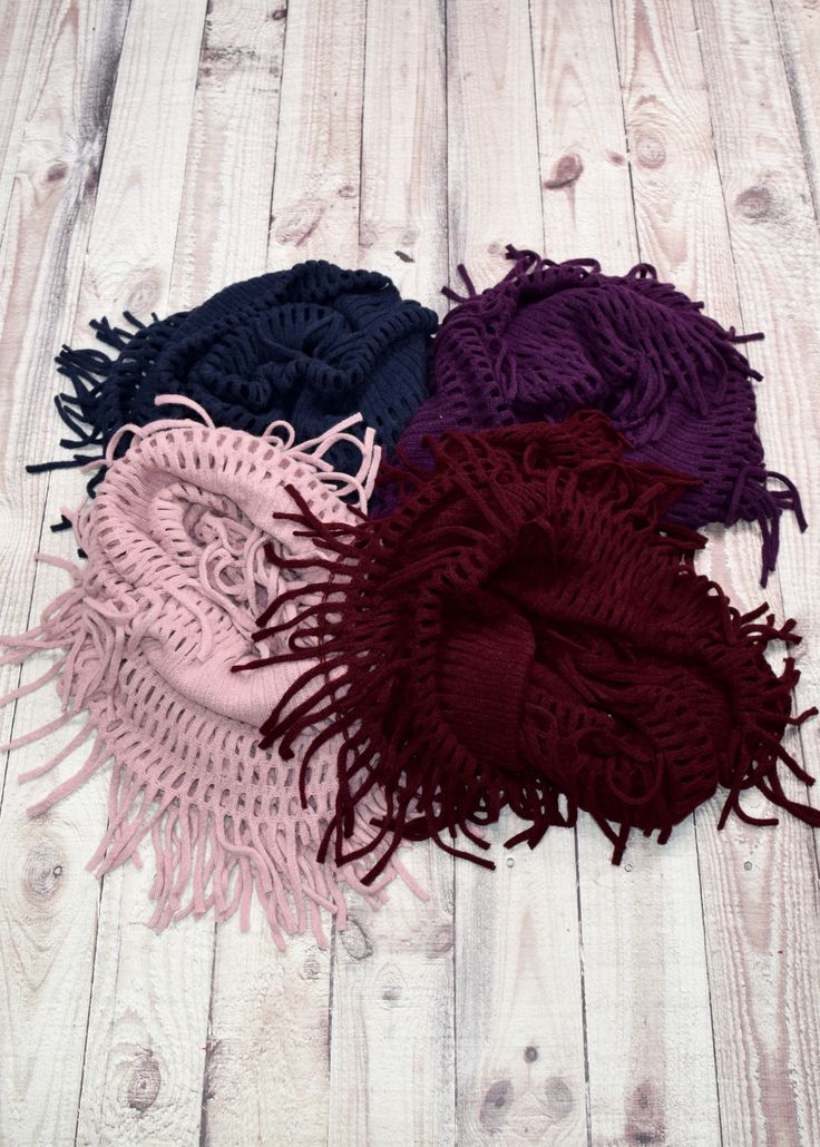 how to make a fringe on a wool scarf