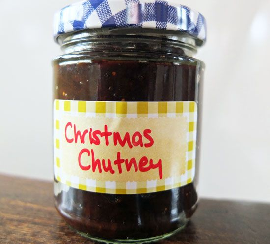 christmas chutney, christmas preserves